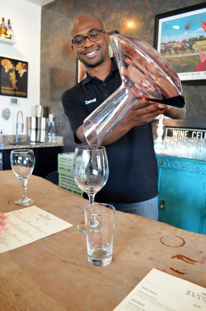 Darrell was one of the attentive employees at our wine tasting.  They were all so informative and enthusiastic about their grapes.