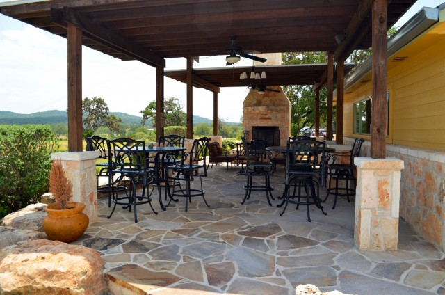 The spectacular views from Bending Branch Winery's outdoor space.