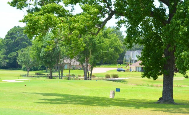 Some new housing along the golf course