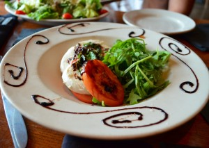 The caprese salad was as fresh at it looks!