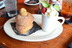 Coffee ice cream and warm donuts were not only delicious but a fun presentation.