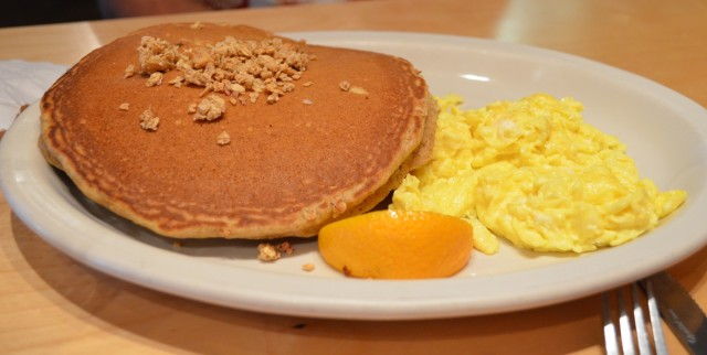 These granola whole wheat pancakes are by far the best pancakes in San Antonio.