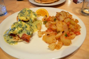 Spinach Benedict and Ranch Potatoes