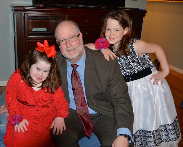 About to embark on the daddy daughter dance a few years ago.